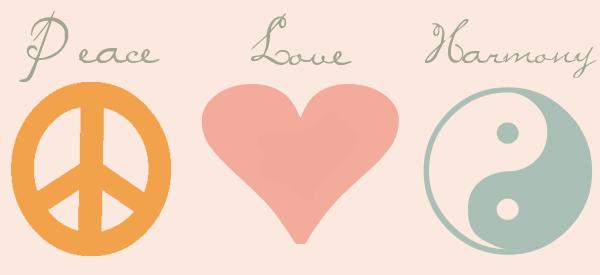 Peace Love Harmony by HC Designs